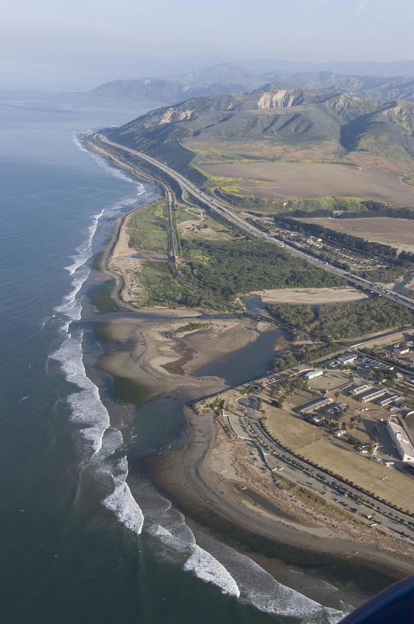 Aerial Views Photograph - Aerial View Of Ventura Point, Ventura by Rich Reid