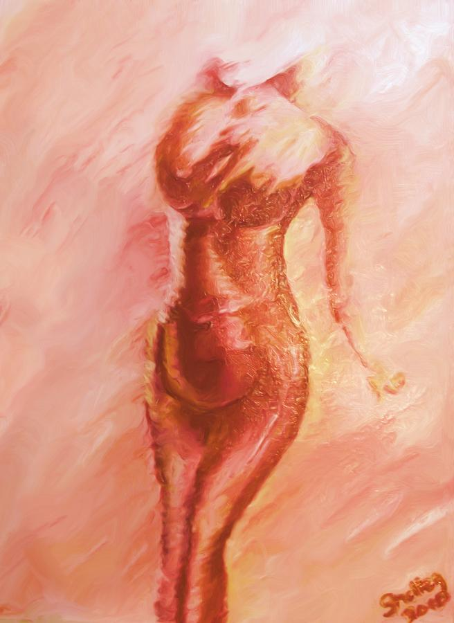 Nude Painting - Aflame by Shelley Bain