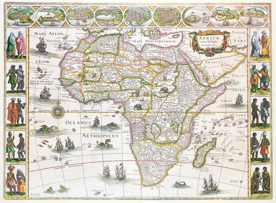 Africa Nova Map Drawing