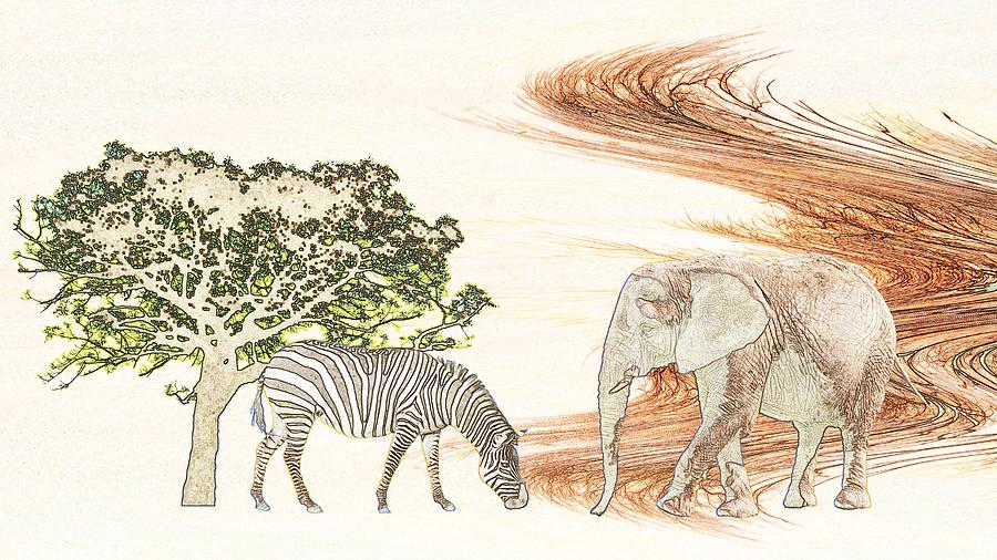 Africa Drawing - Africa by Sharon Lisa Clarke