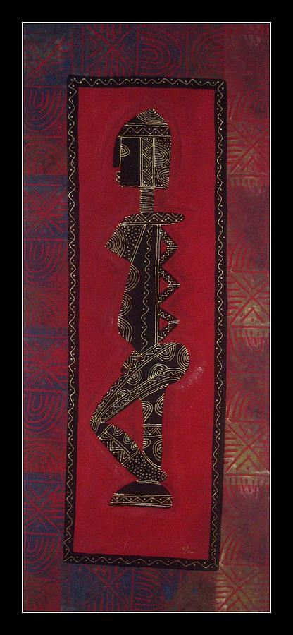 African Motif Tapestry - Textile