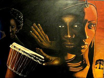 Africa Painting - African Vibrations by Sonia Farquharson