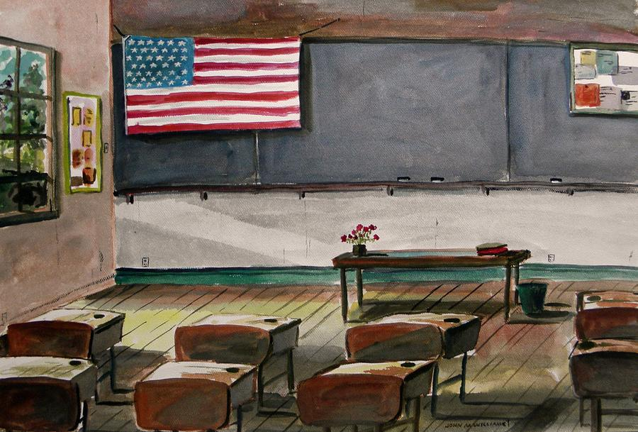 American Flag Painting - After Class by John Williams