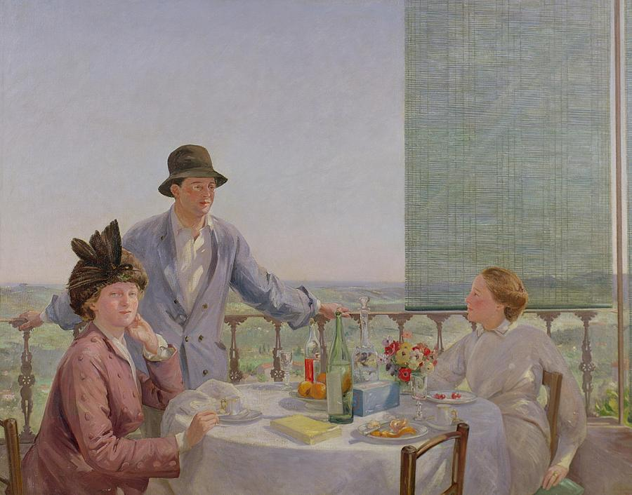 Portrait Painting - After Lunch by Gerard Chowne