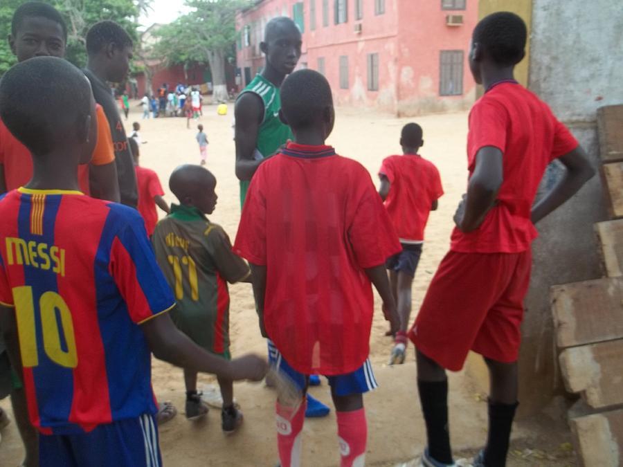 Fania Simon Photograph - After The Game - Goree Boys by Eugene Simon