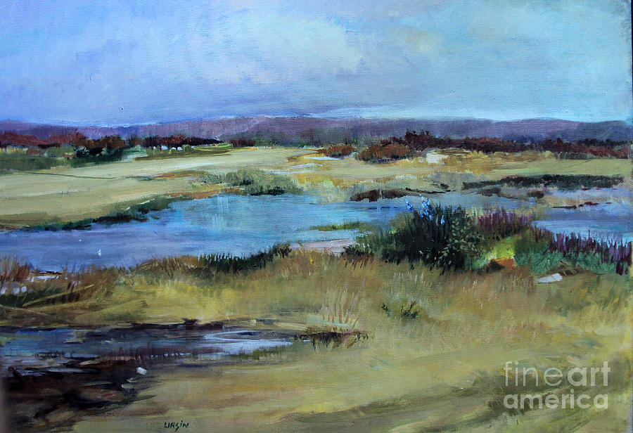 Landscape Painting - After The Rain by Diane Ursin