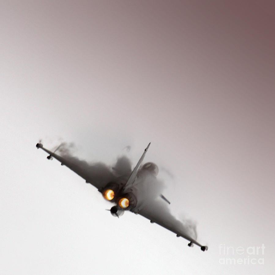 Eurofighter Typhoon Photograph - Afterburner by Angel  Tarantella