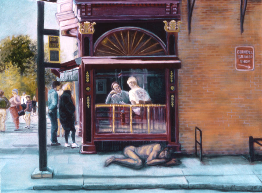 Ithaca Commons Painting - Afternoon On Ithaca Commons by John Clum