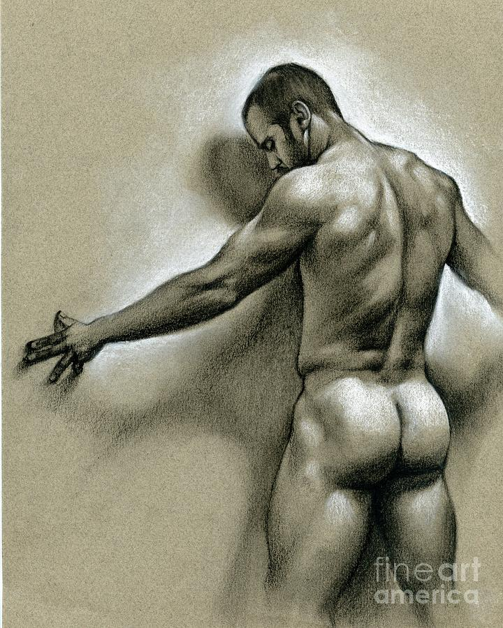 Male Drawing - Against The Wall by Chris Lopez