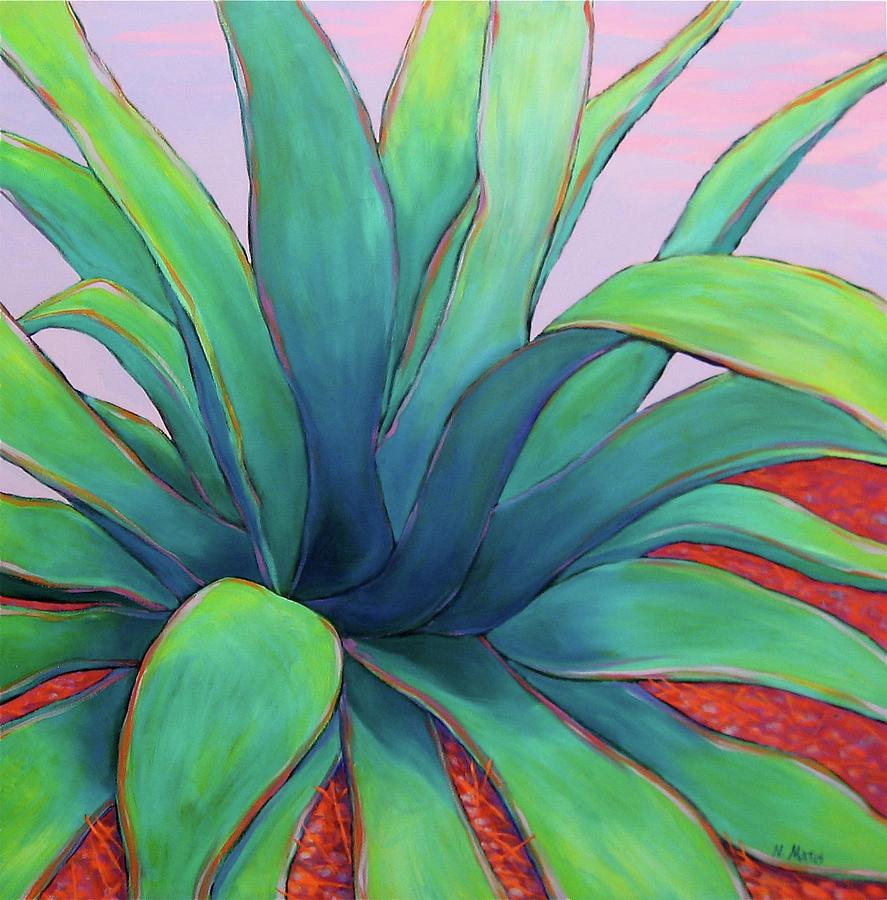 Agave Painting - Agave Dusk by Nancy Matus