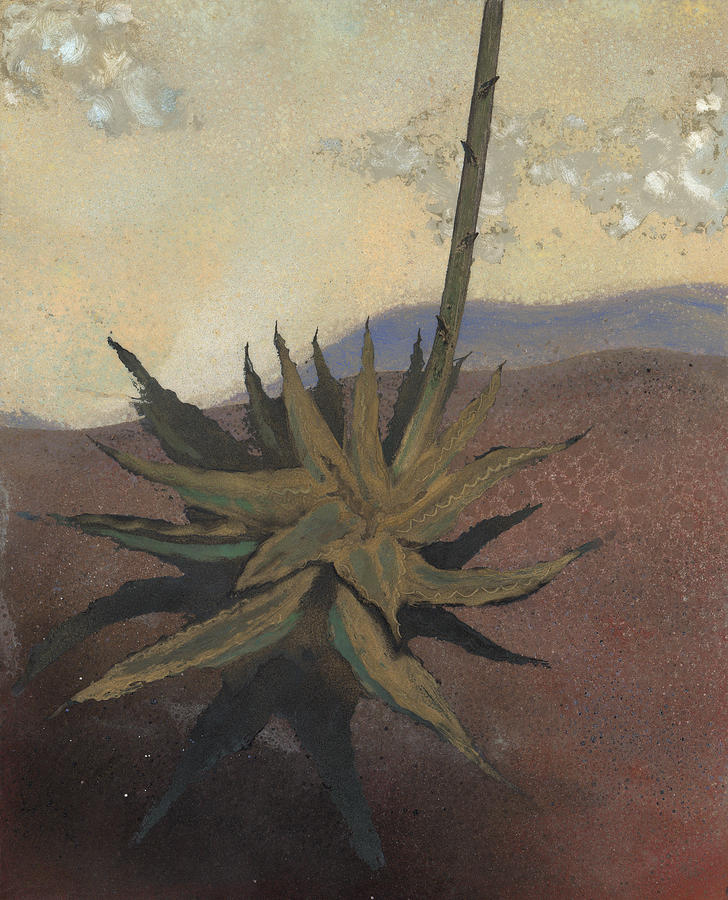 Desert Painting - Agave by Fred Chuang