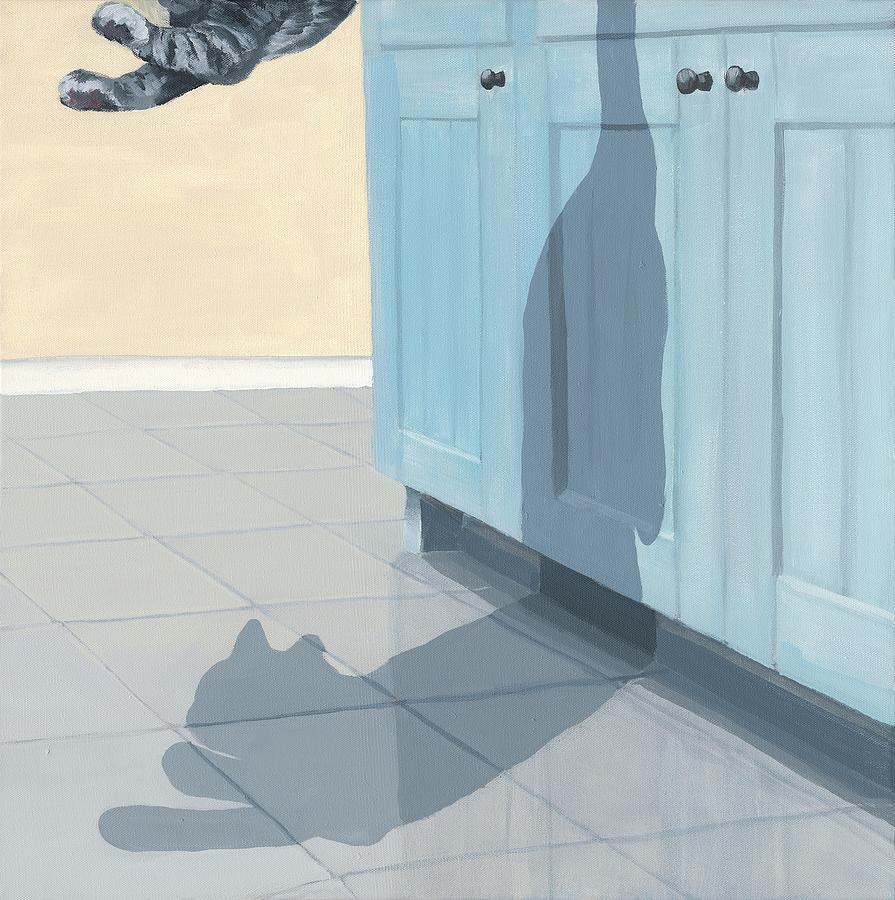 Cat Painting - Agile by Katherine Huck Fernie Howard