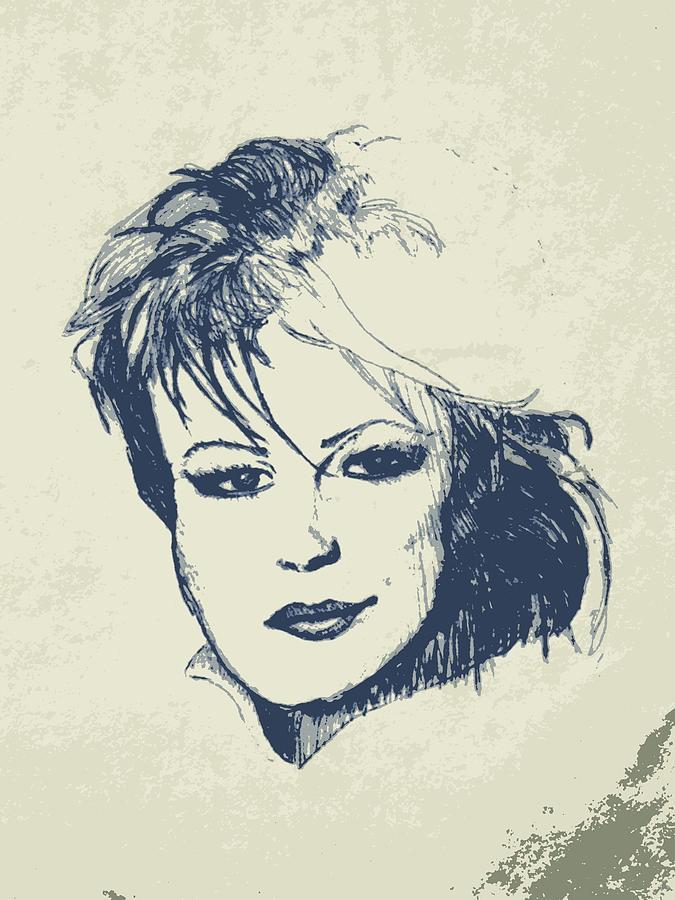 K Drawing - Aging Sex Bomb by Sheri Buchheit