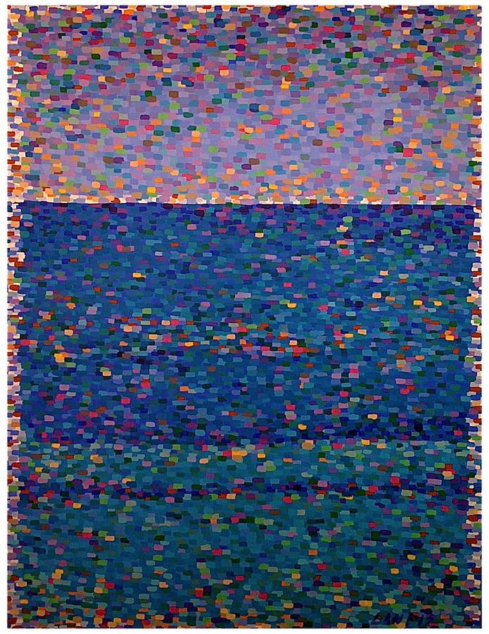 Sea Painting - Agua Azul by Denise Landis