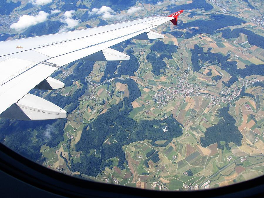 Air Berlin Over Switzerland Photograph