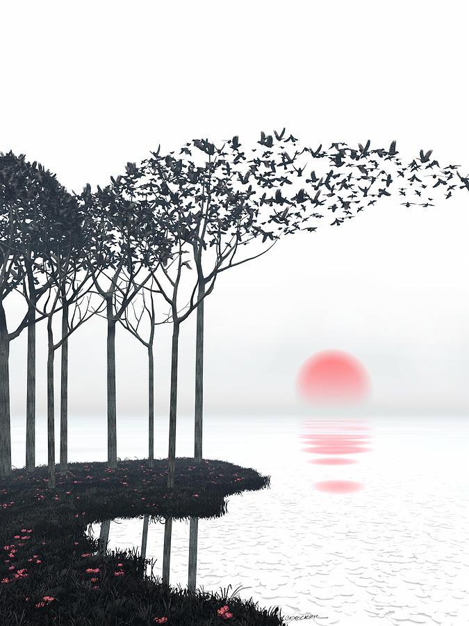 Landscape Digital Art - Aki by Cynthia Decker