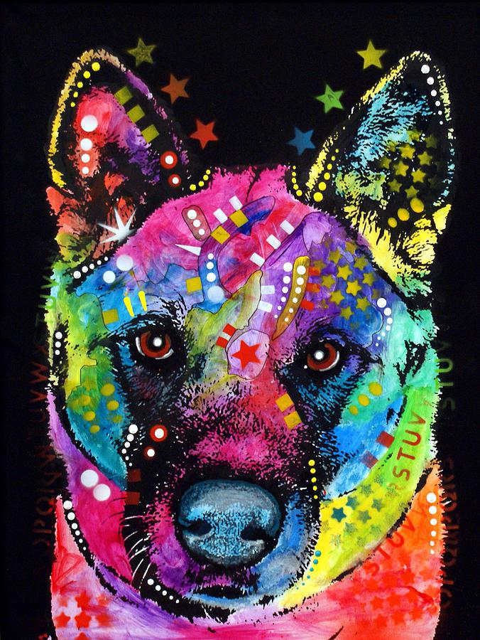 Akita Painting - Akita 1 by Dean Russo