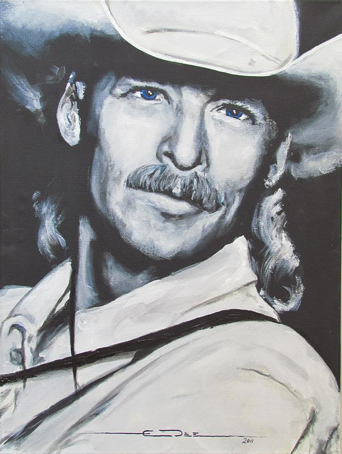 Alan Jackson Painting - Alan Jackson - In The Real World by Eric Dee