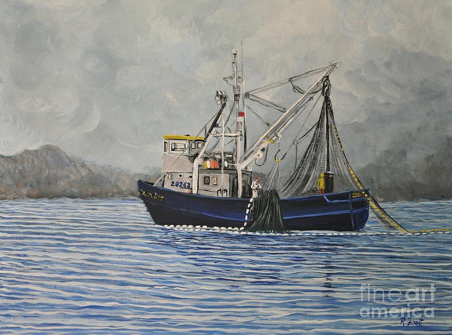 Boats Painting - Alaskan Fishing by Reb Frost