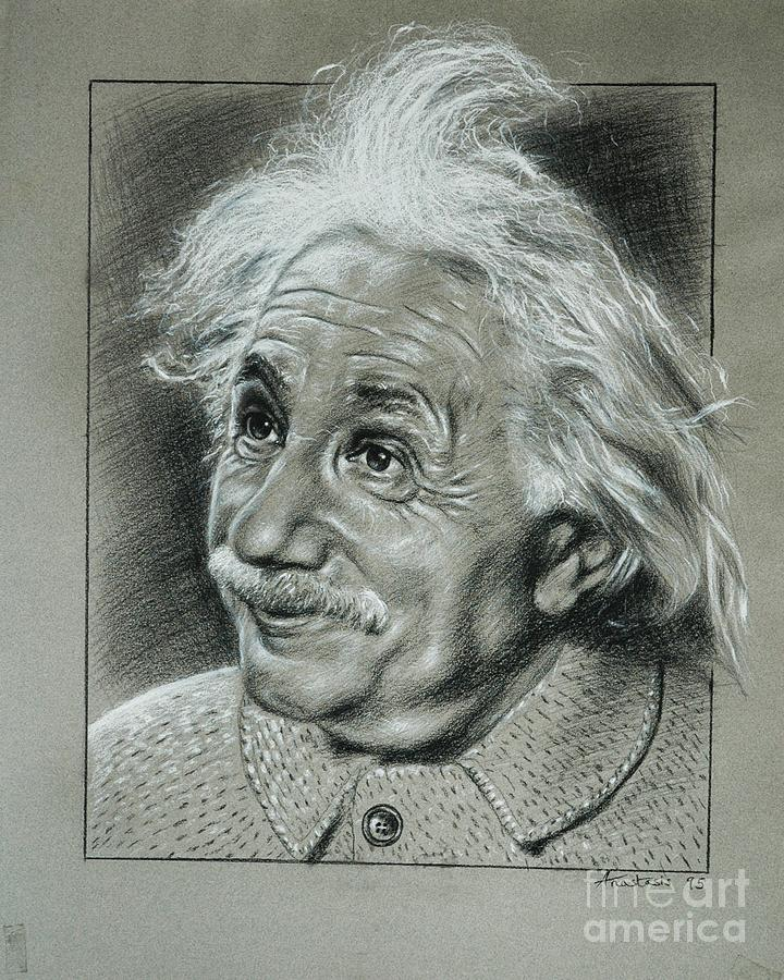 Portrait Of Albert Einstein Painting - Albert Einstein by Anastasis  Anastasi