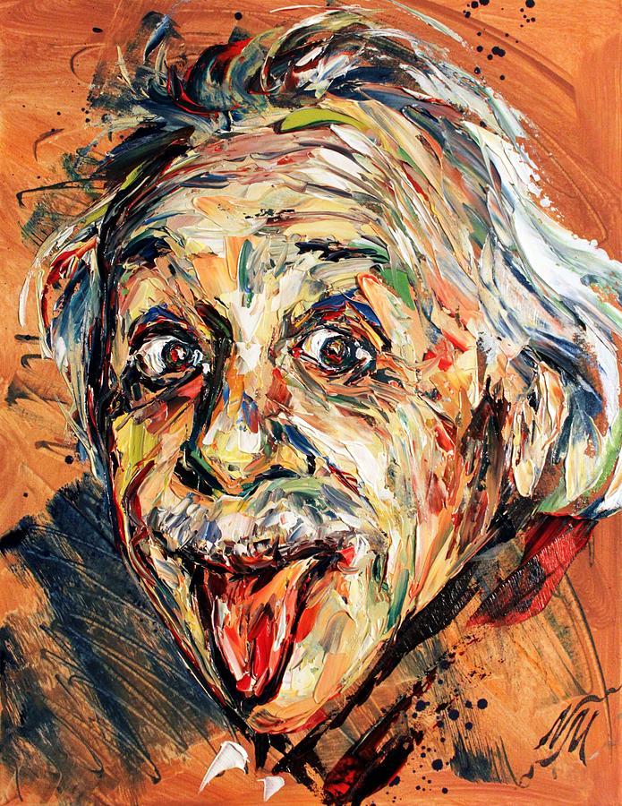 Portrait Painting - Albert Einstein by Natasha  Mylius