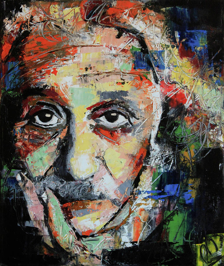 Albert Einstein Painting By Richard Day