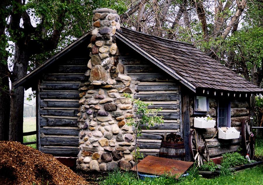 Alberta Log Cabin Photograph By Al Bourassa