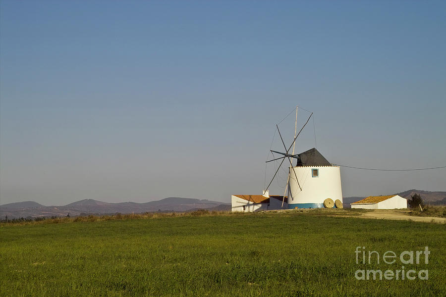 Landscape Photograph - Algarve Windmill by Heiko Koehrer-Wagner