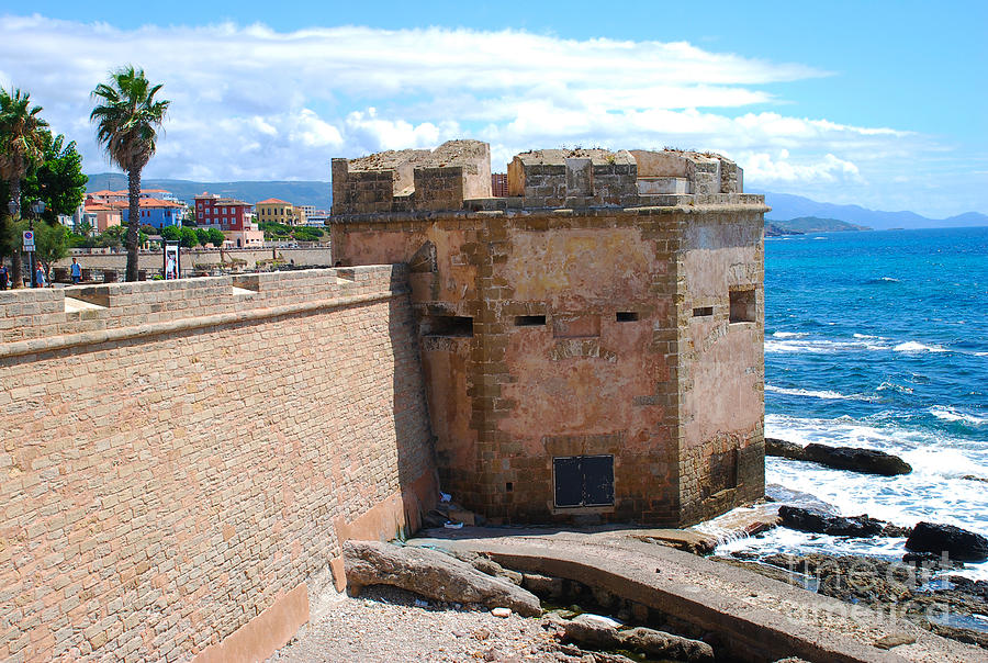 alghero sardinia italy torre di san giacomo photograph by just eclectic. Black Bedroom Furniture Sets. Home Design Ideas