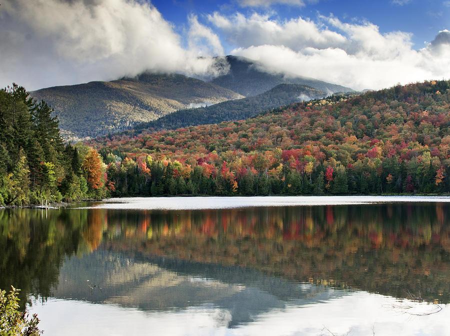 Fall Photograph - Algonquin Peak From Heart Lake - Adirondack Park - New York by Brendan Reals