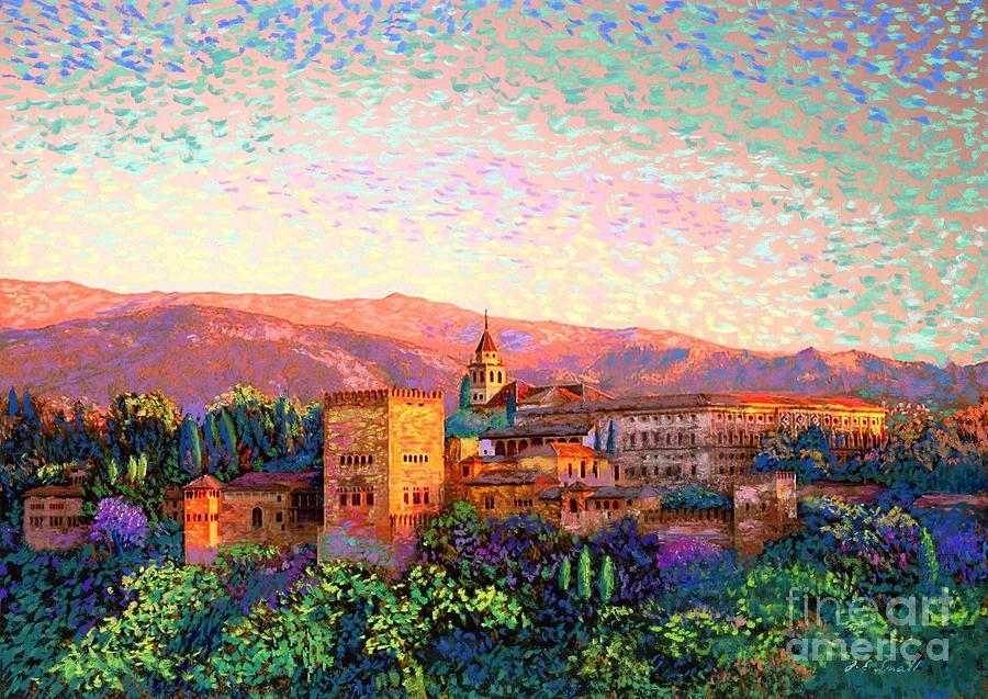 Alhambra, Granada, Spain Painting