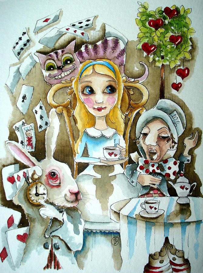 Lucia Stewart Painting - Alice In Wonderland 1 by Lucia Stewart