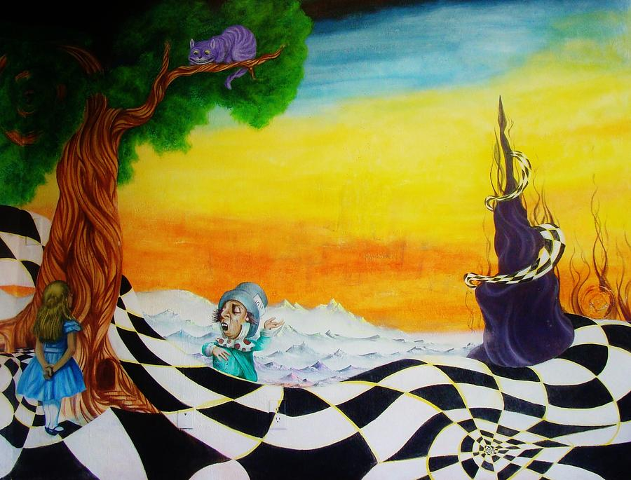 Alice In Wonderland Painting - Alice In Wonderland by Ben Christianson