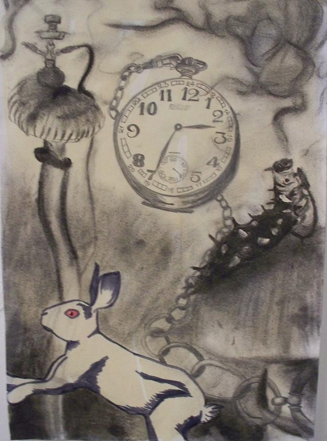 alice in wonderland drawing by kellie hogben
