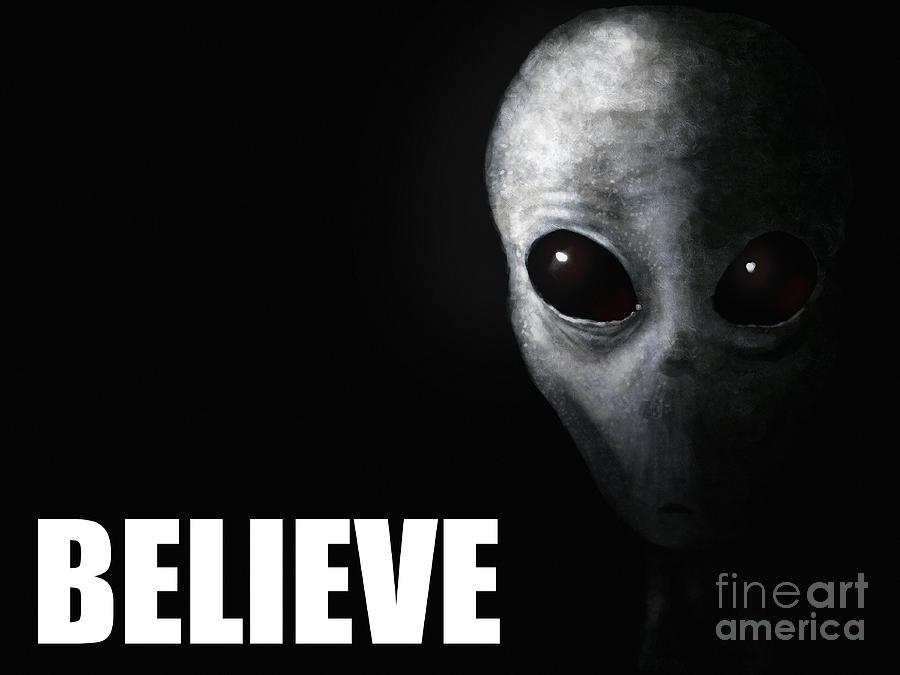Alien Grey - Believe Painting