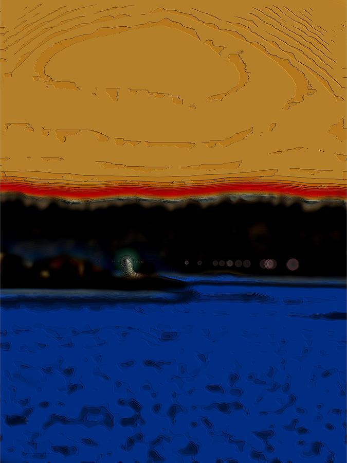 Alki Lighthouse Digital Art