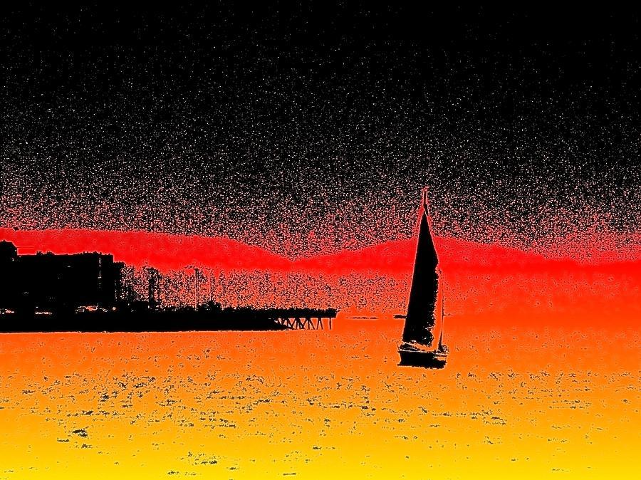 Seattle Photograph - Alki Sail  by Tim Allen