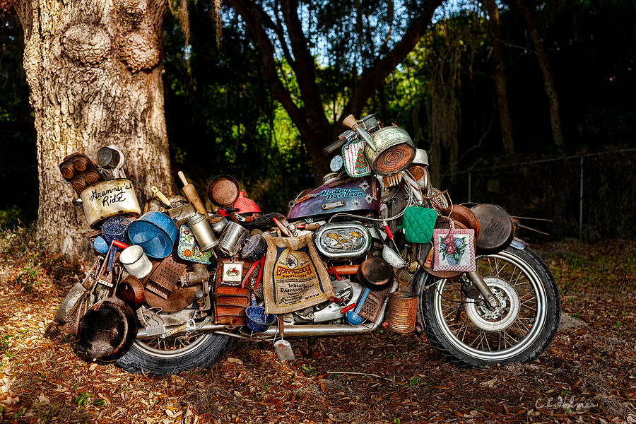 Harley Photograph - All But The Kitchen Sink by Christopher Holmes