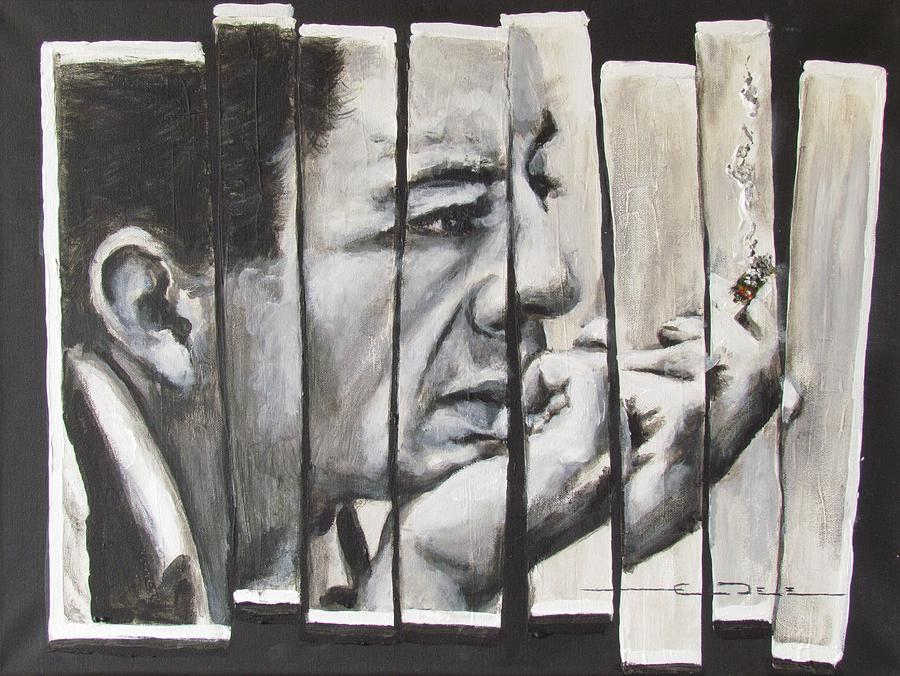 Much Of Johnny Cash's Music Painting - All Together Johnny Cash by Eric Dee