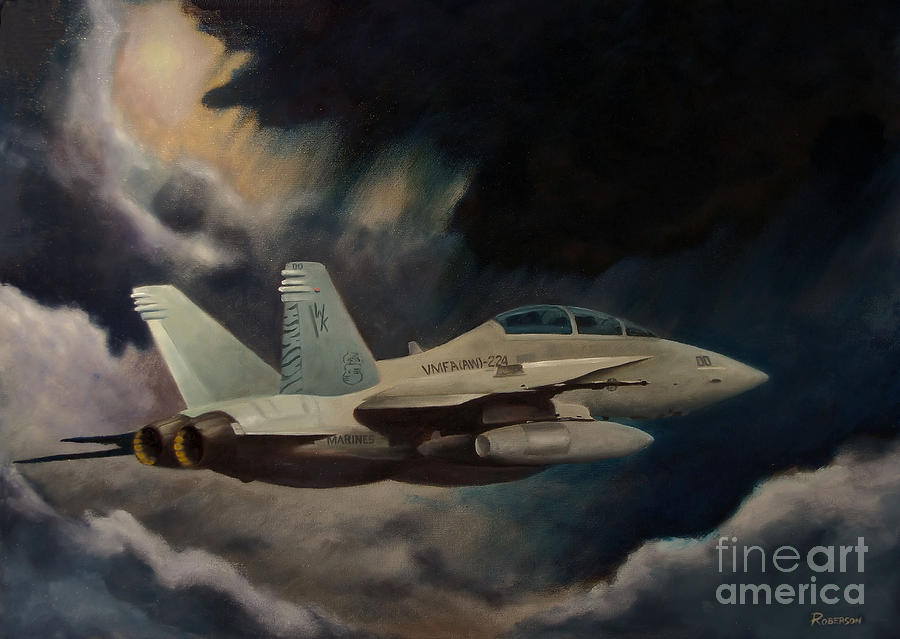 F-18 Painting - All Weather - Single Craft by Stephen Roberson