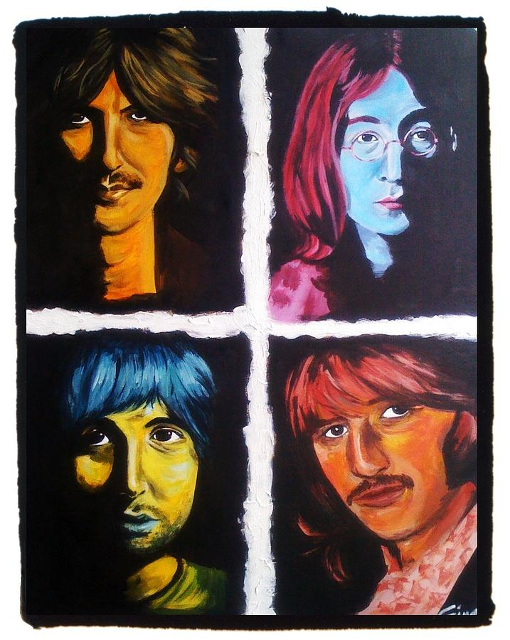 Beatles Painting - All You Need Is Color by Gina Bocalbos