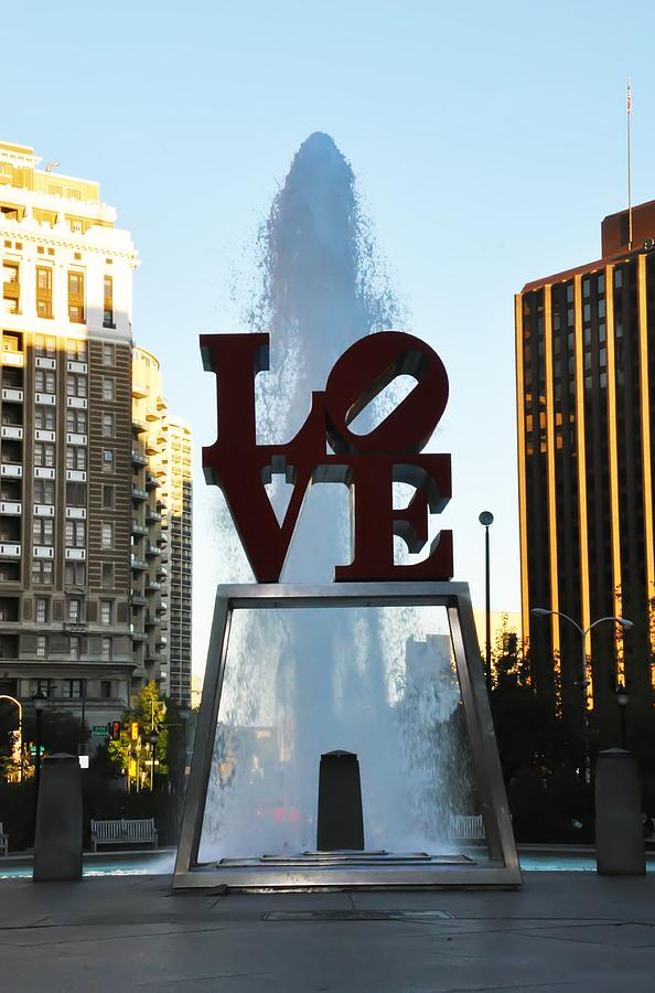Love Park  Photograph - All You Need Is Love by Bill Cannon