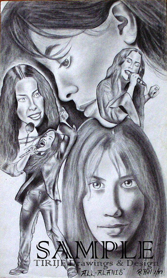 Portraits  Drawing - Allalanis by Rick Hill