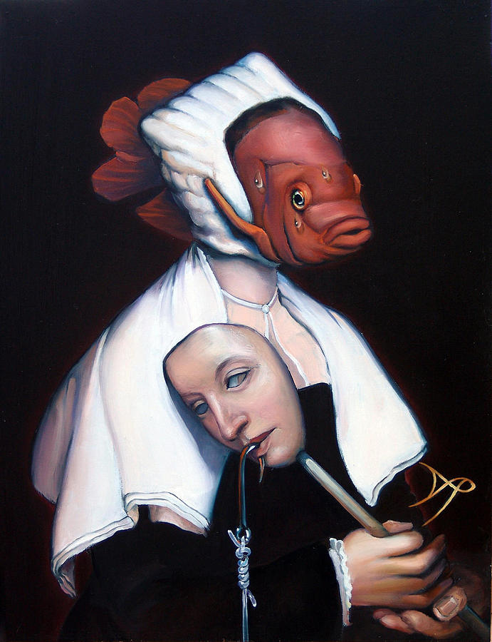Allegory Of Fishing Painting