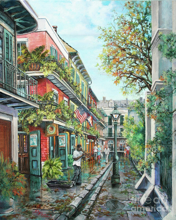 Music Painting - Alley Jazz by Dianne Parks