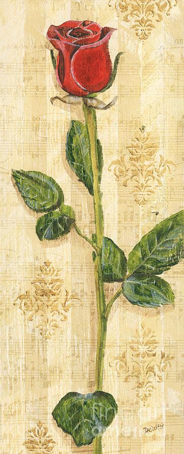 Floral Painting - Allies Rose Sonata 2 by Debbie DeWitt