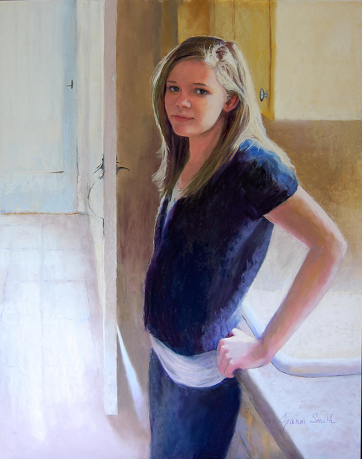 Portrait Painting - Almost Fourteen by Jeanne Rosier Smith