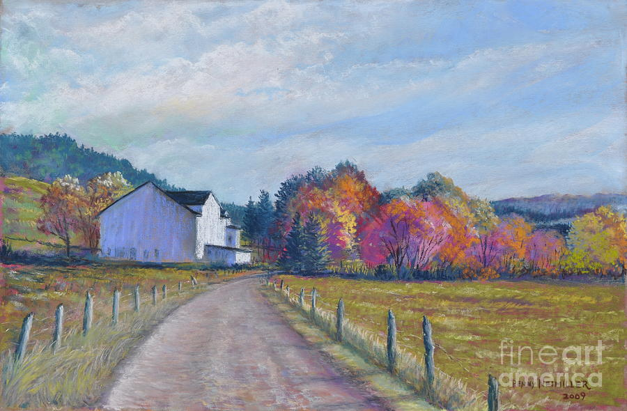 Paintings Of Farms In Fall Painting - Almost Home by Penny Neimiller
