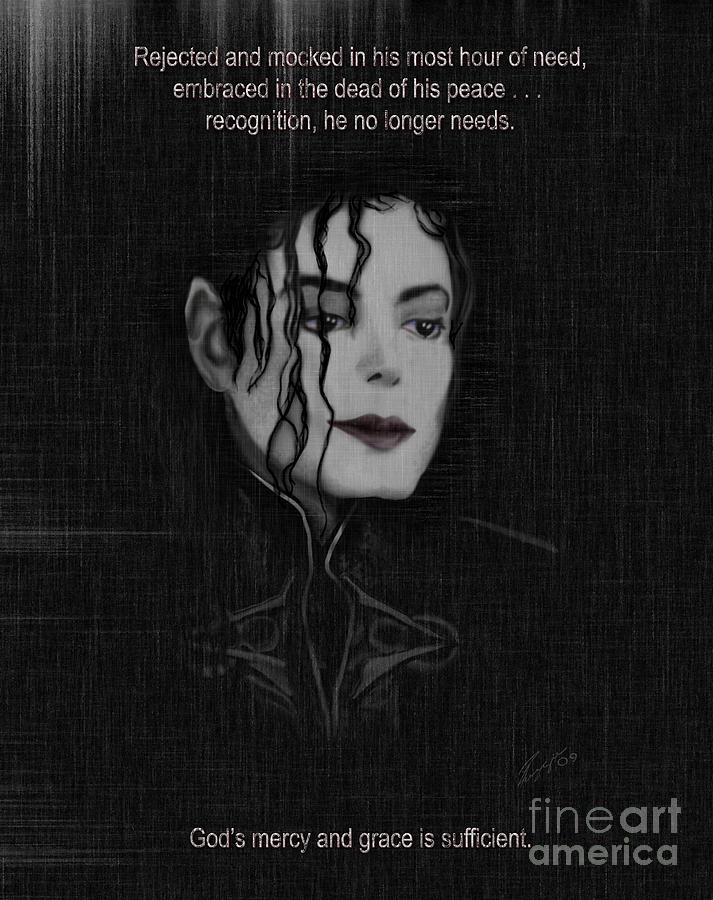 Painting Of Michael Jackson Painting - Alone In The Dark II by Reggie Duffie