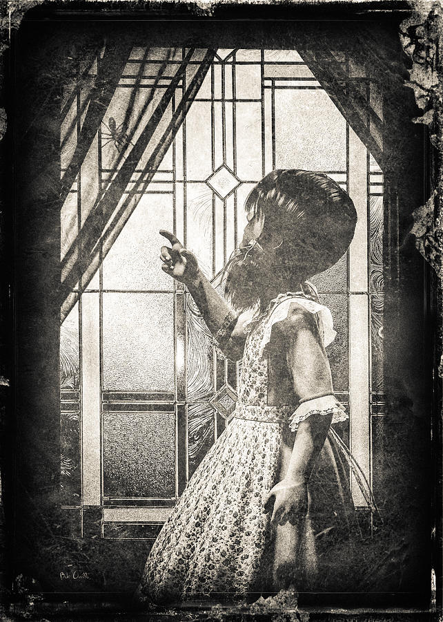 Little Miss Muffet Photograph - Along Came A Spider by Bob Orsillo